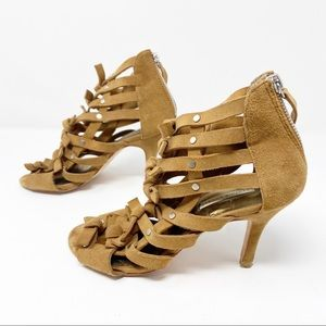Cynthia Vincent | Knotted Cut Out Studded Heels